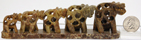 Image of soapstone elephant train 5 piece